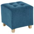blue velvet pouf leandre, blue
