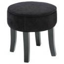 adriel black velvet stool, black