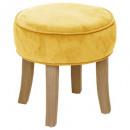 adriel velvet stool, yellow