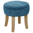 velvet blue velvet stool, blue
