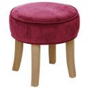 cherry adriel velvet stool, dark pink