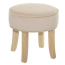 Hocker in Samt Beige Adriel, Beige