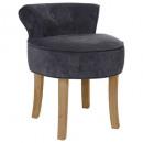 trendy firmin gray velvet stool, gray
