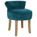 firmin duck velvet stool, blue