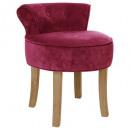 cherry firmin velvet stool, dark pink