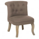fauteuil lin taupe calixte pm, taupe
