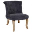 fauteuil en velours g td calixte pm, gris