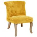 Samt Sessel Mtrde Calixte Uhr, gelb