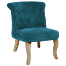 velvet duck calixte pm velvet armchair, blue