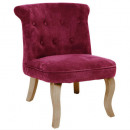 cherry calixte pm velvet armchair, dark pink
