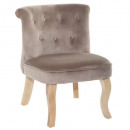fauteuil en velours taupe calixte pm, taupe