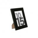 black plastic photo frame 10x15, black