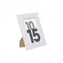 marco de plástico blanco 10x15, blanco