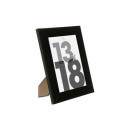 marco de plástico negro 13x18, negro