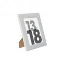 marco de plástico blanco 13x18, blanco