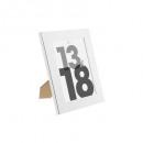 marco de plástico plateado 13x18, plateado