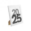 marco de plástico plateado 20x25, plateado