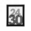 schwarzer Kunststoff Bilderrahmen 24x30, schwarz