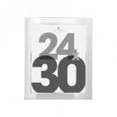 marco de plástico plateado 24x30, plateado