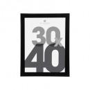 marco de fotos de plástico negro 30x40, negro