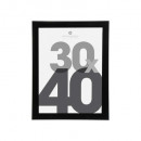 black plastic photo frame 30x40, black