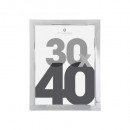 silver plastic picture frame 30x40, silver