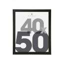 Marco de fotos de plástico negro 40x50, negro