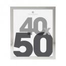 marco de plástico plateado 40x50, plateado