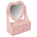 wholesale Jewelry Storage: heart jewelry box 1 shot, 3- times assorted , colo