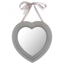 heart ribbon mirror 27x27.5, 3- times assorted , c