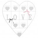7p metalen hartmuurhouder, b wit