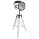 ebor h68 weiße Metall- / Holzlampe, weiß