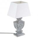 wholesale Lampes: patina wood lamp gray h50, gray