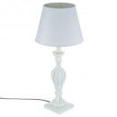 lampe bois patine blanc h56, blanc