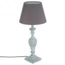 Patina Holz Lampe grau h56, grau