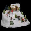 Karácsonyi falu síelés lefelé lm