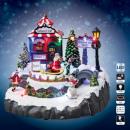 Karácsonyi falu Mikulás bolt animált lm
