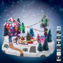 Großhandel Spielwaren: Weihnachtsdorf Autorennen lm