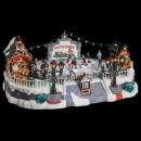 pista de hielo de pueblo de navidad 10 santons lm