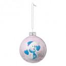 christmas ball 80mm glass printed Santa Claus
