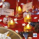 LED-ljus värmeplatta glitter x6 guld