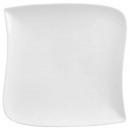 Borden dessert vierkante golf 21cm, wit