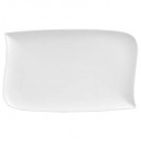 plate rectangle wave 33x20cm, white