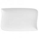 Borden platte rechthoekige golf 28x18cm, wit