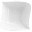 Copa cuadrada ola 14cm, blanco