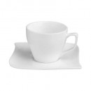 pair coffee cup wave 9 cl, white