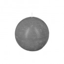 bougie boule rustic gris d8, gris