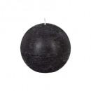 czarna rustykalna świeca kulowa d8, czarna