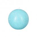 bougie boule rustic turquoi d8, bleu