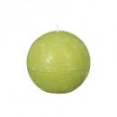 groene rustieke bal kaars d8, groen